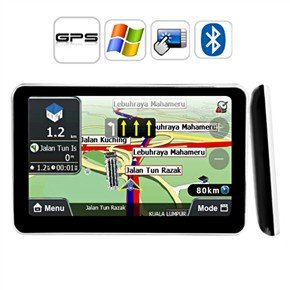 """2GB Free Map 7"""" HD Portable Touch Screen Car GPS Navigator with Bluetooth AV-IN"""