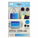PSP Slim Crystal Cover Case and Extral Button Kit