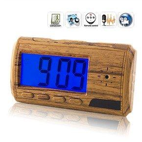 USB Rechargeable 2.0MP Pinhole Spy AV Camera Hidden in LCD Alarm Clock