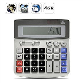 USB Rechargeable Pinhole Spy Camera Disguised as Working Calculator
