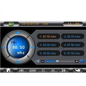KD-7100 7 Inch 2 Din In-Dash Car DVD Player with GPS