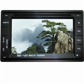 """DT-6208 6.2"""" 2 Din In-Dash Car DVD Player with GPS"""