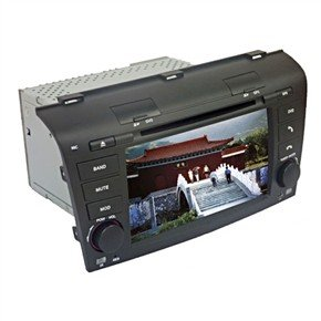 "7"" HD Digital Touch Screen 2 Din Car DVD Player with GPS DVB-T for Mazda 3"