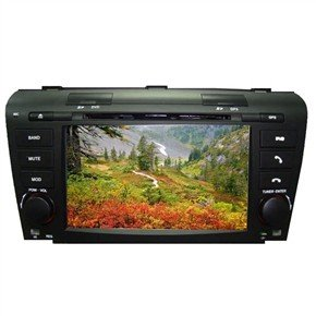 """7"""" HD Digital Touch Screen 2 Din Car DVD Player with GPS CANBUS DVB-T for Mazda 3"""