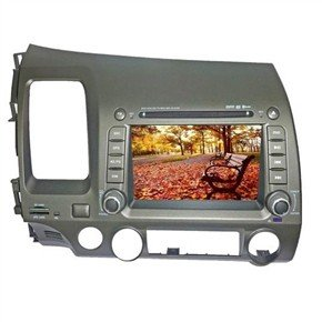 "7"" HD Digital Touch Screen 2 Din Car DVD Player with GPS DVB-T for Honda-Civic"
