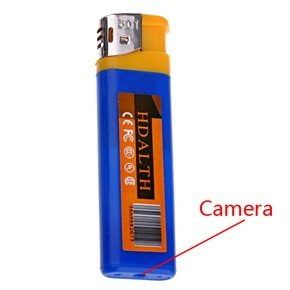 USB Rechargeable Pinhole Spy Camera Disguised as Lighter