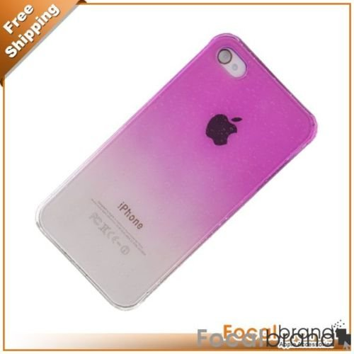 Rosy Clear Crystal Hard Case for Apple iPhone 4G