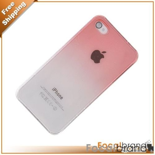 Red Clear Crystal Hard Case for Apple iPhone 4G