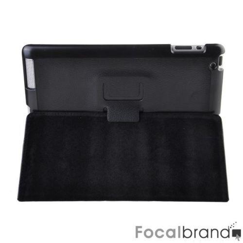 wake/sleep Smart Leather Case Cover for Ipad2 Black