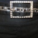 WOMEN RHINESTONE & SEQUINS BELT