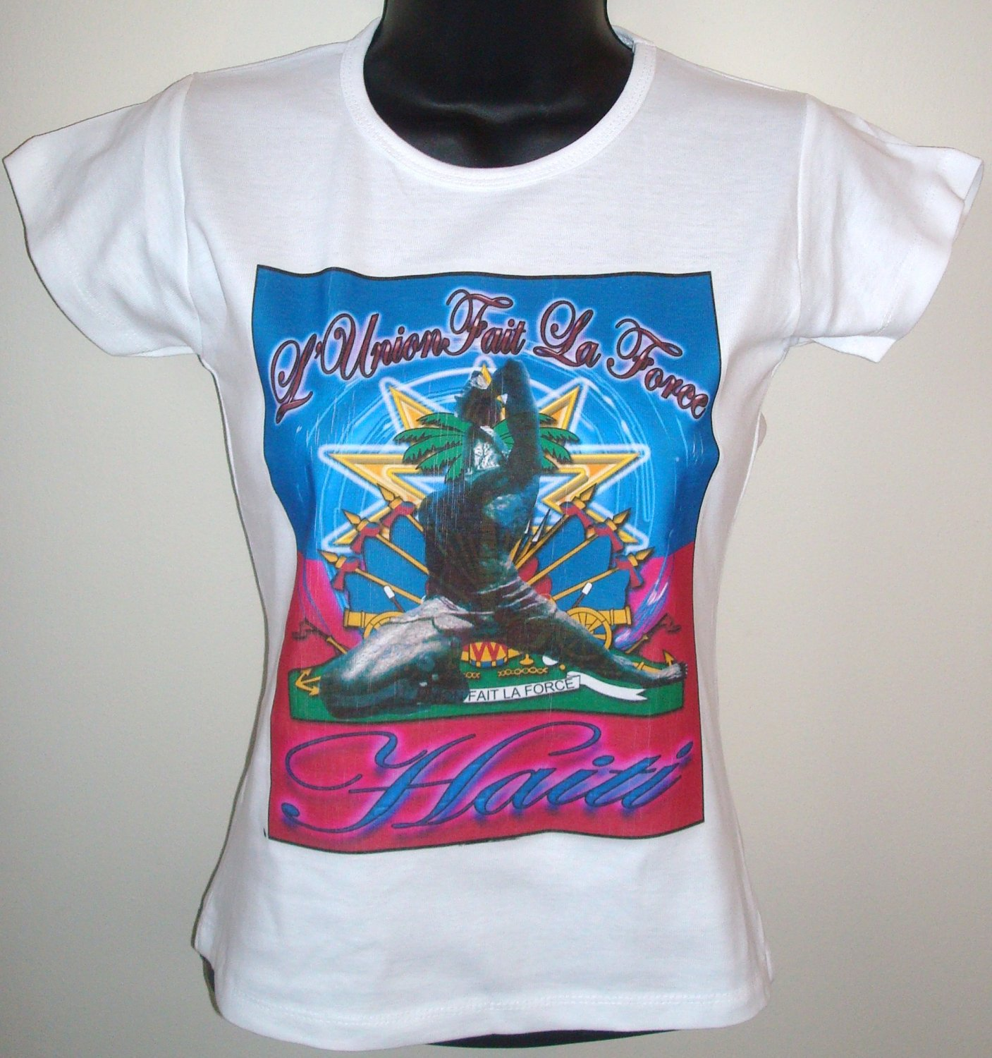 WOMEN HAITI GRAPHIC-TEE (S) SLEEVE