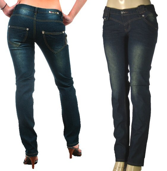 Peach Bottoms Ladies Faded Look Skinny Jeans-Single Pair-Size 13