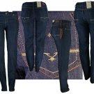 """Kaba Jeans"" - Junior Stretch Denim 5-Pocket Design w/Rear Embroidery Jeans-Single Pair-Size 1"
