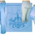 """Kaneka"" - Junior Stretch 5-Pocket Design Denim Jeans-Single Pair-Size 7"