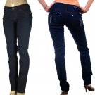 Peach Bottom - Junior Stretch Skinny Jeans with Rear Pocket Zipper Accents-Single Pair-Size 9