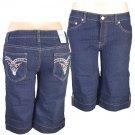 """Xpress Jeans""-Junior Stretch Navy Blue Denim Bermuda Shorts-Single Pair-Size 5"