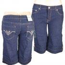 """Xpress Jeans""-Junior Stretch Navy Blue Denim Bermuda Shorts-Single Pair-Size 17"