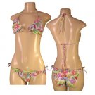 """Biki Active""-Junior Stretch Beach Scene Print Bikini-Single Pair-Size Large"