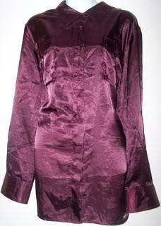 Lane Bryant Ladies 22/24 Blouse Burgundy Long sleeves