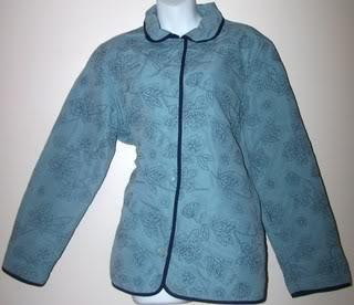 Ladies Jacket Sky Blue Embroidered FLowers