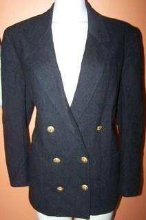 La Bonne Ladies 12 Blazer Black Anchor buttons