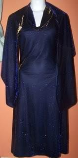 Ladies Embellished Dress/Shawl Purple Knee Length Formal