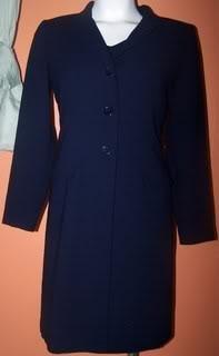 Ladies 8P Dress/Duster  Navy Blue Versatile