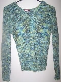 Ladies XL Sweater Green Long Sleeves Casual