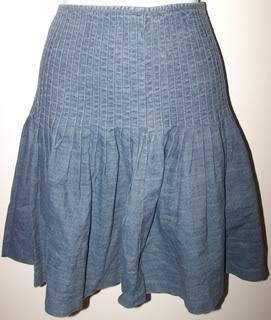 Ralph Lauren Ladies 6 Skirt Pleaded Gray Cute/Casual