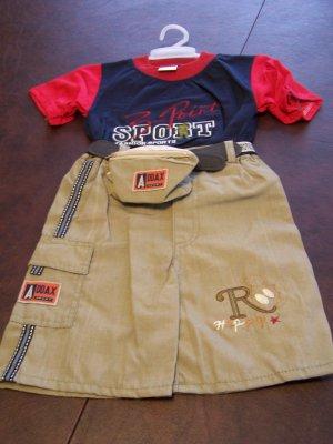 Ha Ha Boys Toddlers 3t Short Set size large NWOT