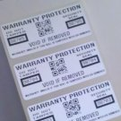 1000 WARRANTY PROTECTION VOID SECURITY LABELS W/QR CODE