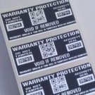 1000 BLACK WARRANTY PROTECTION VOID LABELS W/ QR CODE
