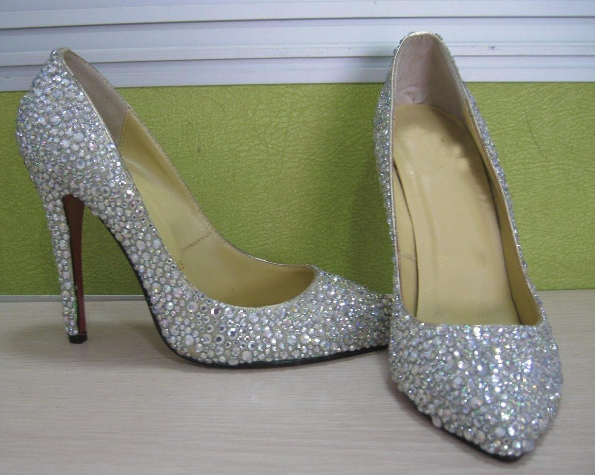 ab swarovski crystal custom bridal shoes