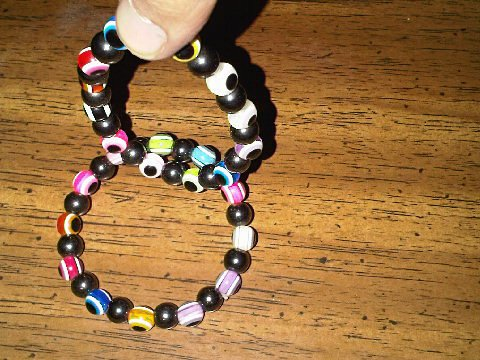 Set of Six Magnetic Hematite Multicolored Bracelets