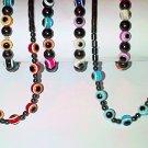 6pc Set of Magnetic Hematite Necklace & Bracelets