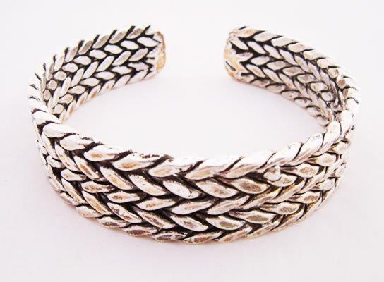 miao silver jewelry bracelet interesting double plaits