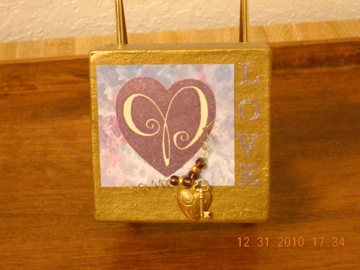 Gold Note Card Box