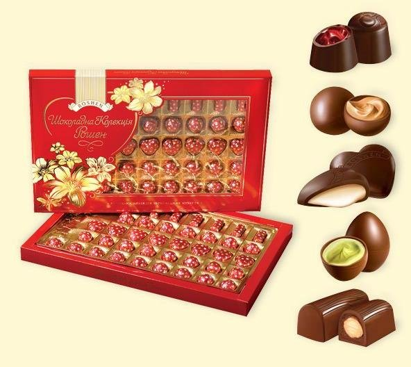 """Chocolate collection Roshen"" 312 g.- Chocolate in Gift box"