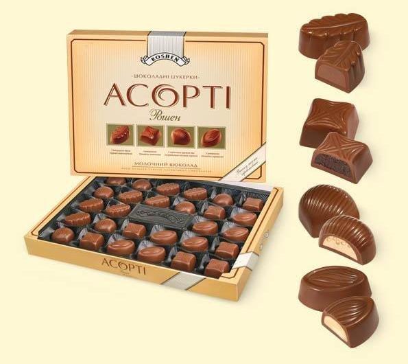 """""""Allsorts roshen milk chocolate, chocolates"""" 396 g.- Chocolate in Gift box"""