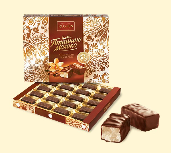 """Ptashyne Moloko Roshen"" 150 g.- Chocolate in Gift box"