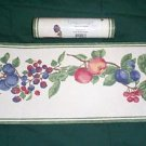 NO FREE SHIPPING-LONGABERGER FRUIT MEDLEY WALLPAPER BORDER~ GREEN EDGE