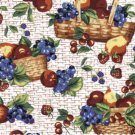 1 YARD LONGABERGER FRUIT & BASKETS FABRIC ~NEW