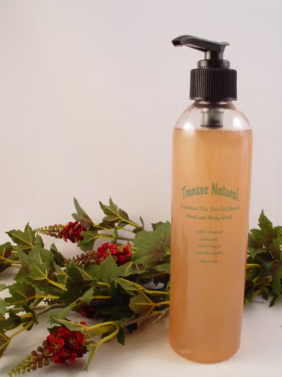 Transoz Natural Australian Tea Tree Oil Based Hand & Body Wash  8oz