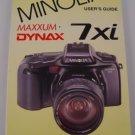 Hove Foto Complete Users Guide for Minolta Maxxum 7xi