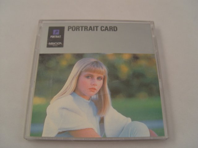 Minolta Maxxum Portrait Program Card for 700si 9xi 7000i 8000i