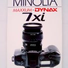 Hove Foto International Users Guide for Minolta Maxxum/Dynax 7xi