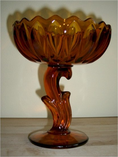 Indiana Glass Lotus Flower or Tulip Compote