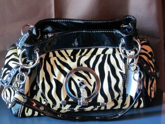 Eye-Catching Zebra-Striped Handbag