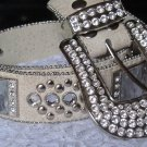 Bone-White XS/Kids Studded Belt