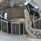 Cross & Star-Adorned Belt - size M
